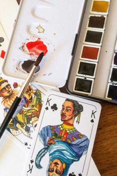 Spielköpfe Kartenspiel